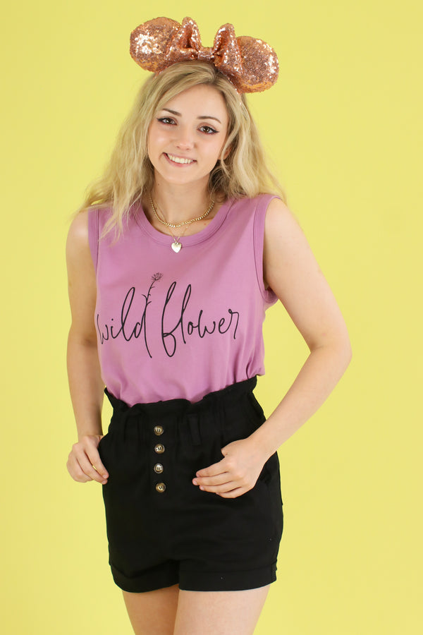 S / Orchid Wildflower Graphic Top - FINAL SALE - Madison and Mallory