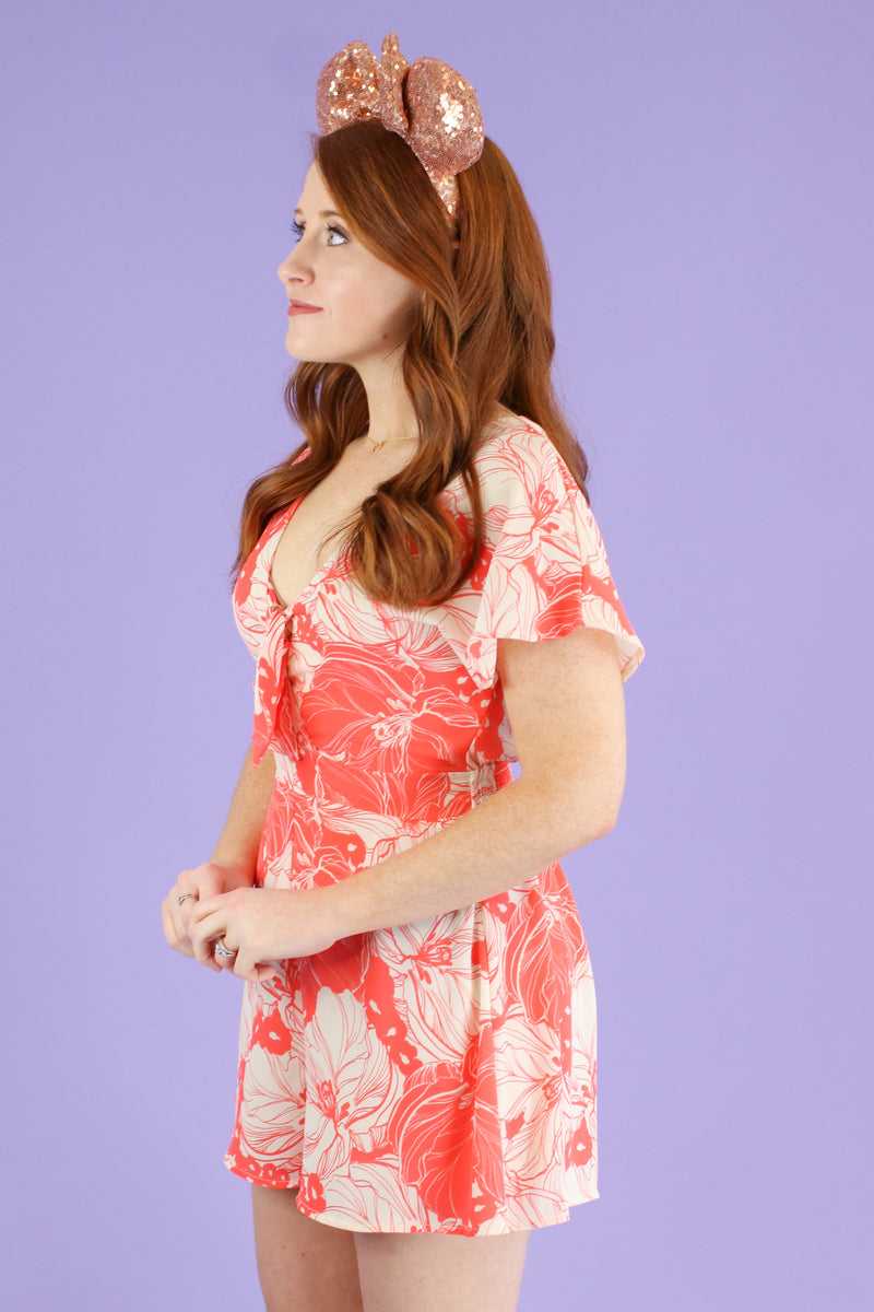 Dreaming of This Floral Print Romper - FINAL SALE - Madison and Mallory