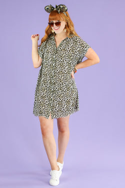 S / Olive Breaking Wild Animal Print Dress | CURVE - Madison and Mallory