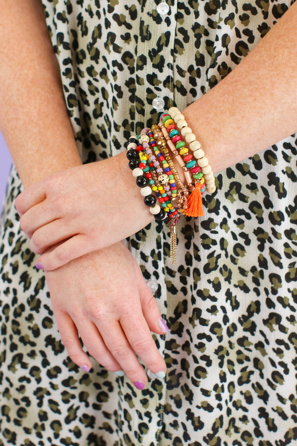 Natural Treasure Multi Color Bracelet Stack - Madison and Mallory