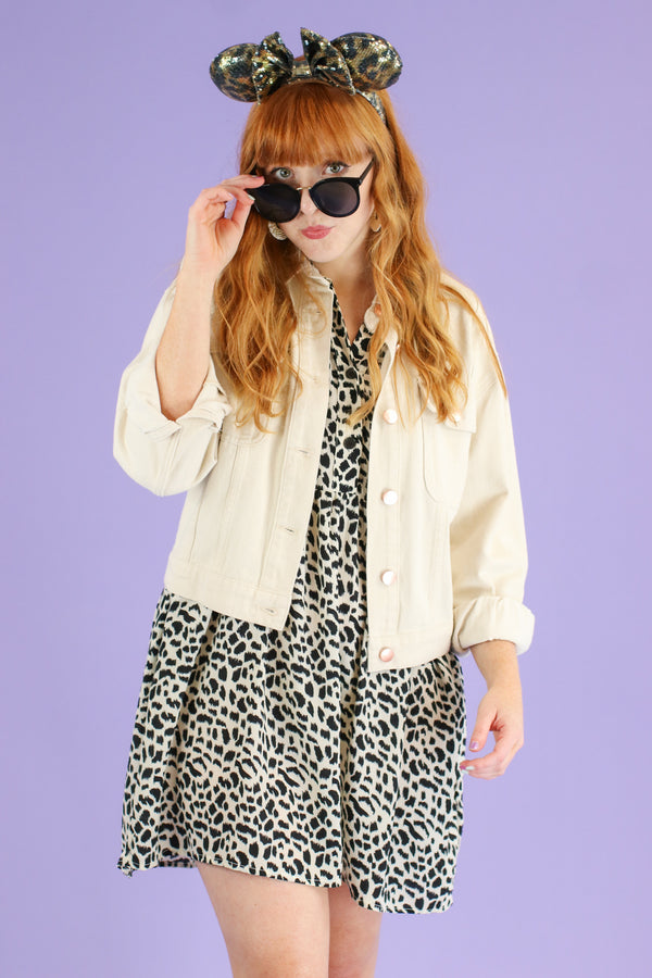 S / Natural Playing it Cool Button Down Jacket - Madison and Mallory