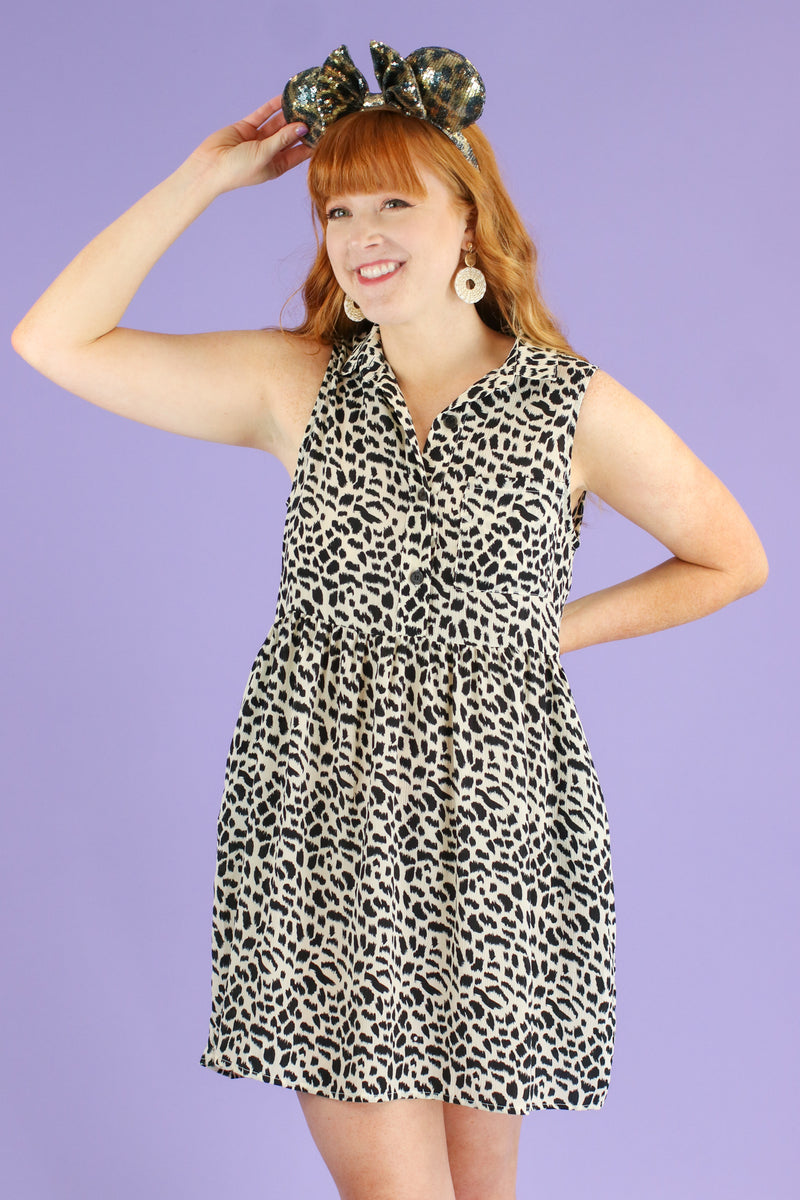 S / Off White Wild Pursuit Animal Print Dress | CURVE - Madison and Mallory