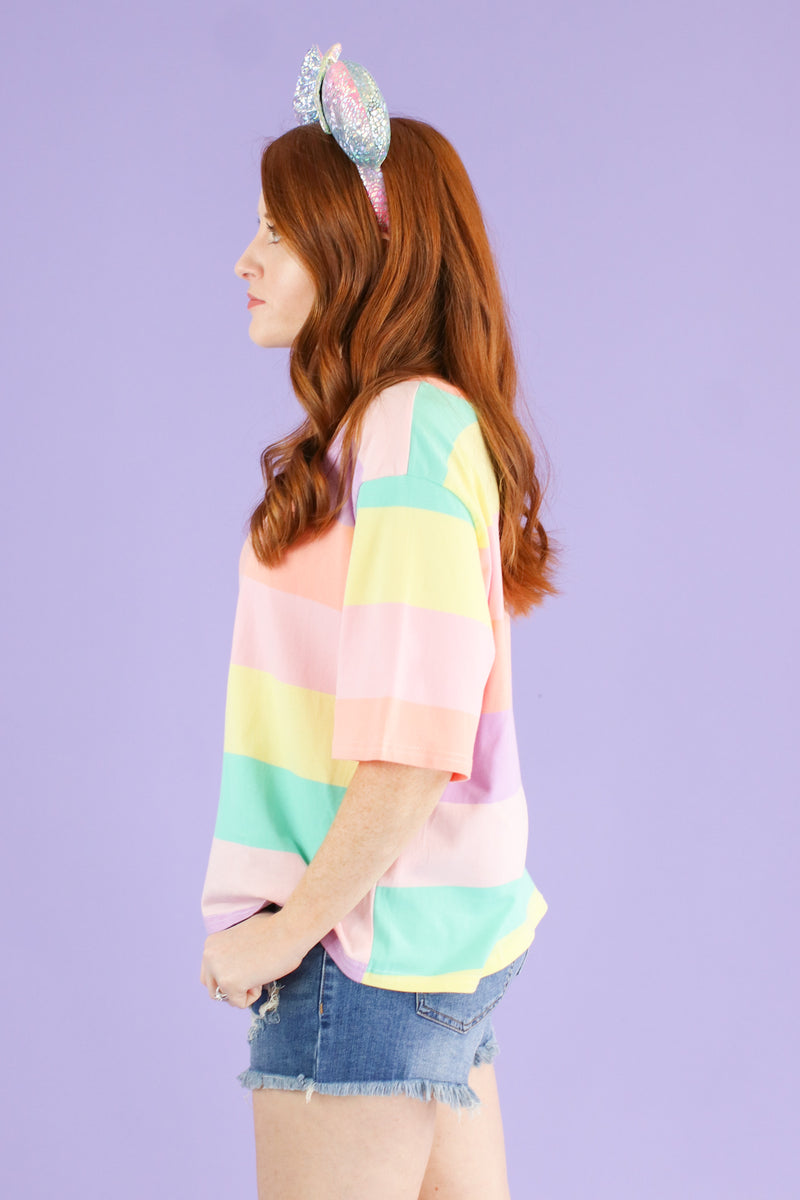 Neverland Multi Color Striped Top - FINAL SALE - Madison and Mallory
