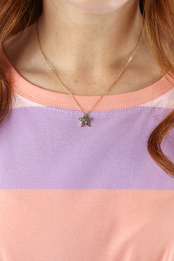 Magic Obsession Multi Color Star Necklace - Madison and Mallory