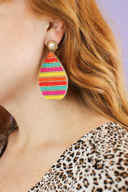 Colors of the Wind Beaded Earrings - Madison and Mallory
