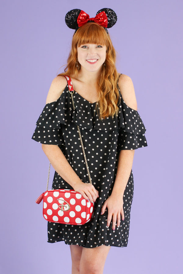 Black / S It's Charming Polka Dot Dress - FINAL SALE - Madison and Mallory