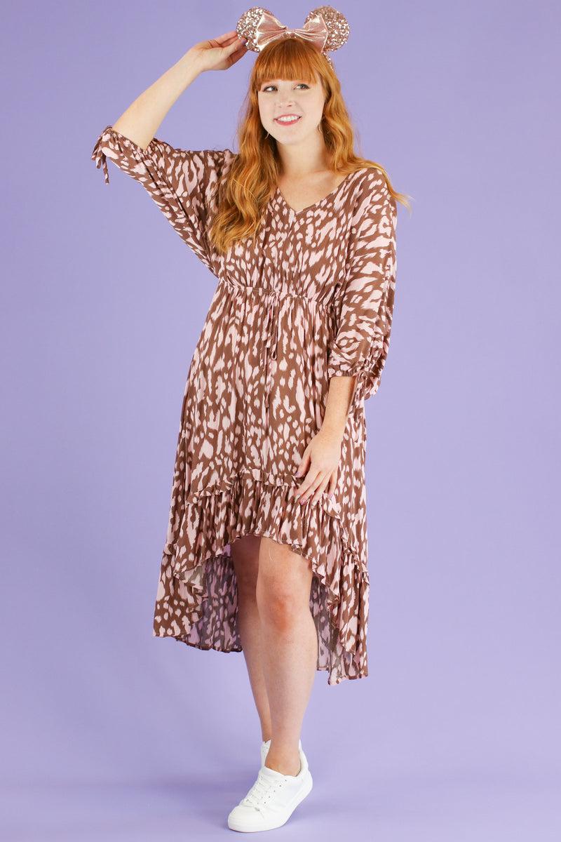 S / Blush Fierce Potential Animal Print Dress | CURVE - FINAL SALE - Madison and Mallory
