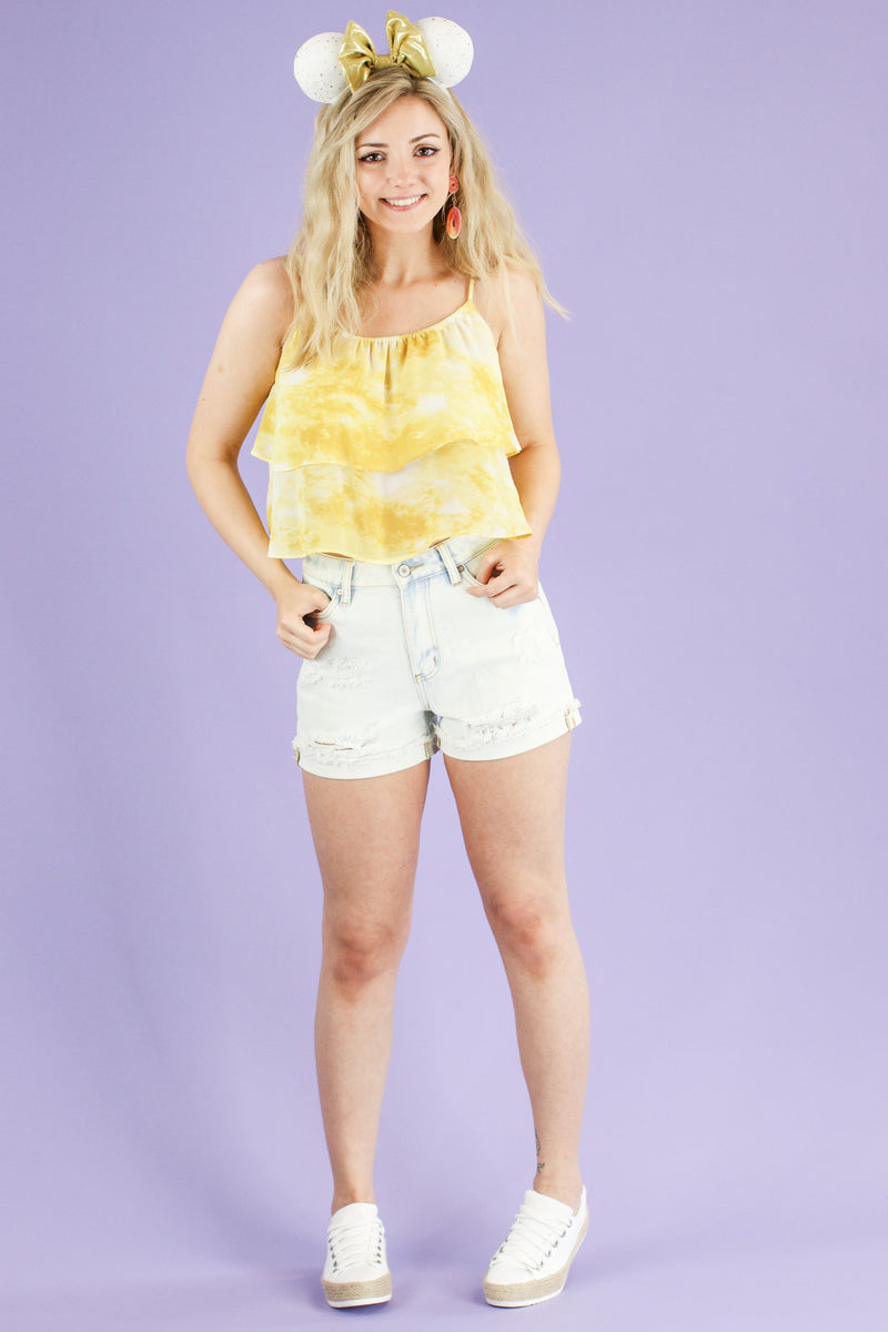 Windsor Tie Dye Flounce Top - FINAL SALE - Madison and Mallory