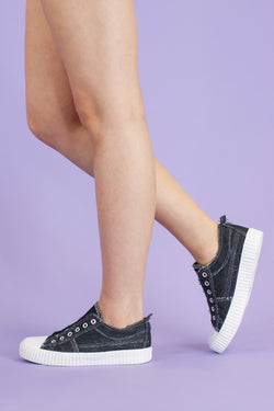 6 / Black On Your Toes Slip On Sneakers - Madison and Mallory