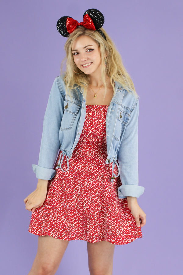 S / Red All Good Things Floral Dress - Madison and Mallory