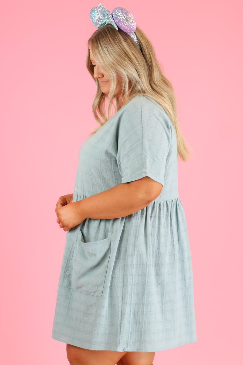 Sunbathe Button Down Babydoll Dress | CURVE - Madison and Mallory