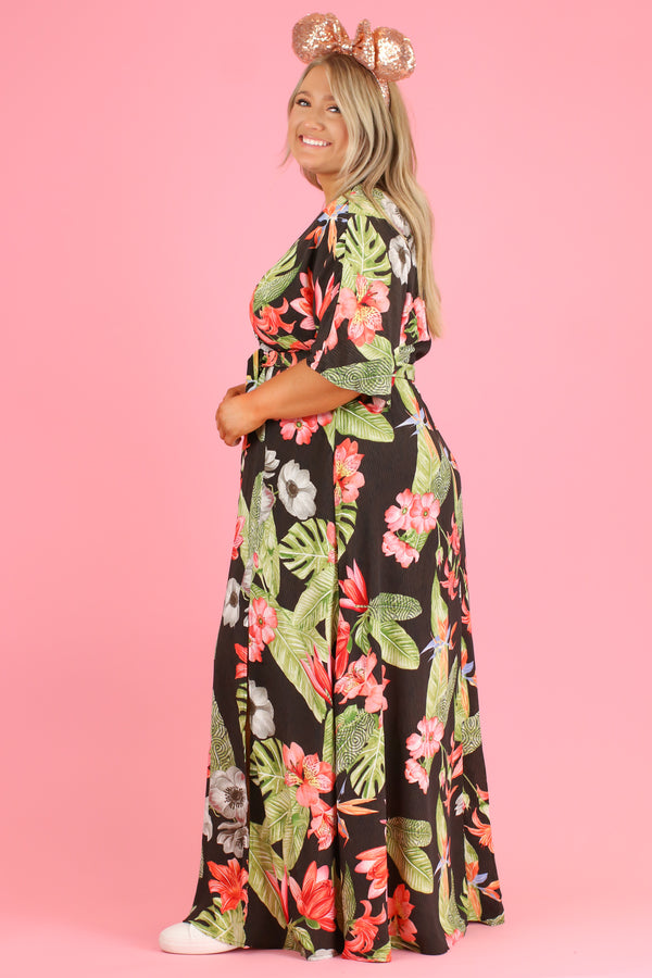 Tropicana Print Maxi Dress | CURVE - FINAL SALE - Madison and Mallory
