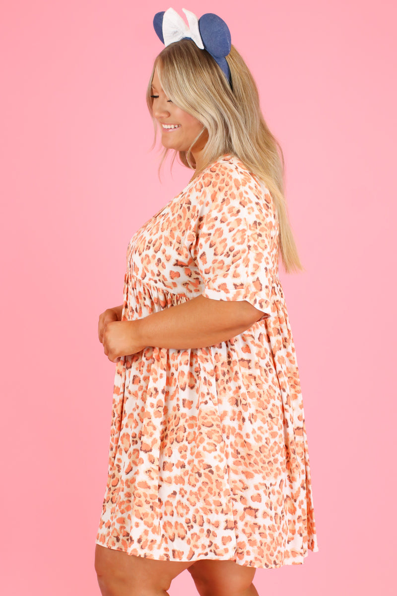 Stampede Animal Print Babydoll Dress | CURVE - FINAL SALE - Madison and Mallory