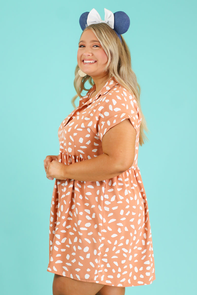 Jungle Trek Printed Babydoll Dress - Madison and Mallory