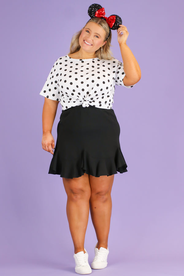 On Replay Polka Dot Top | CURVE - FINAL SALE - Madison and Mallory