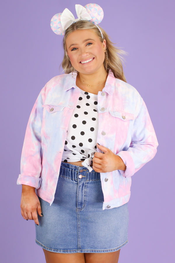 Cassiopea Tie Dye Denim Jacket - FINAL SALE - Madison and Mallory