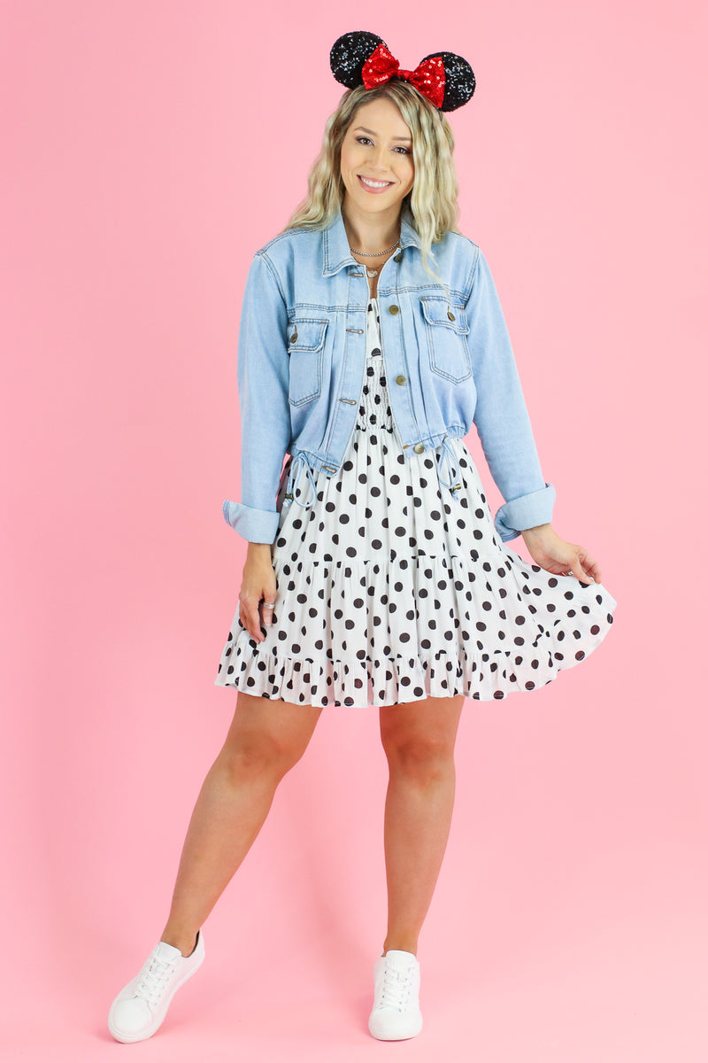 Dots on Dots Smocked Ruffle Dress - Madison and Mallory