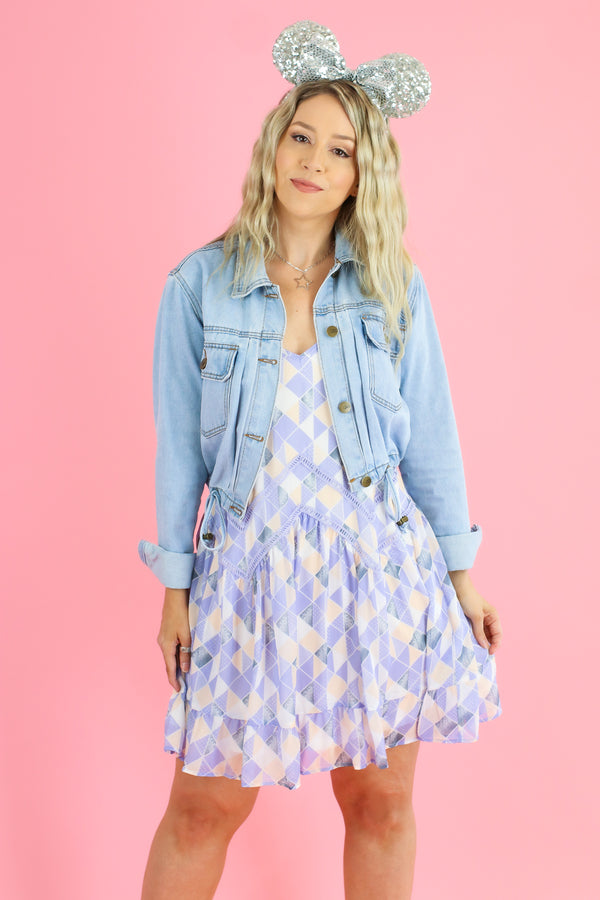 S / Periwinkle Just a Dream Away Ruffle Dress - Madison and Mallory