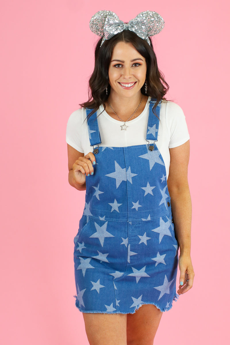 What a Star Distressed Overall Jumper - Madison and Mallory