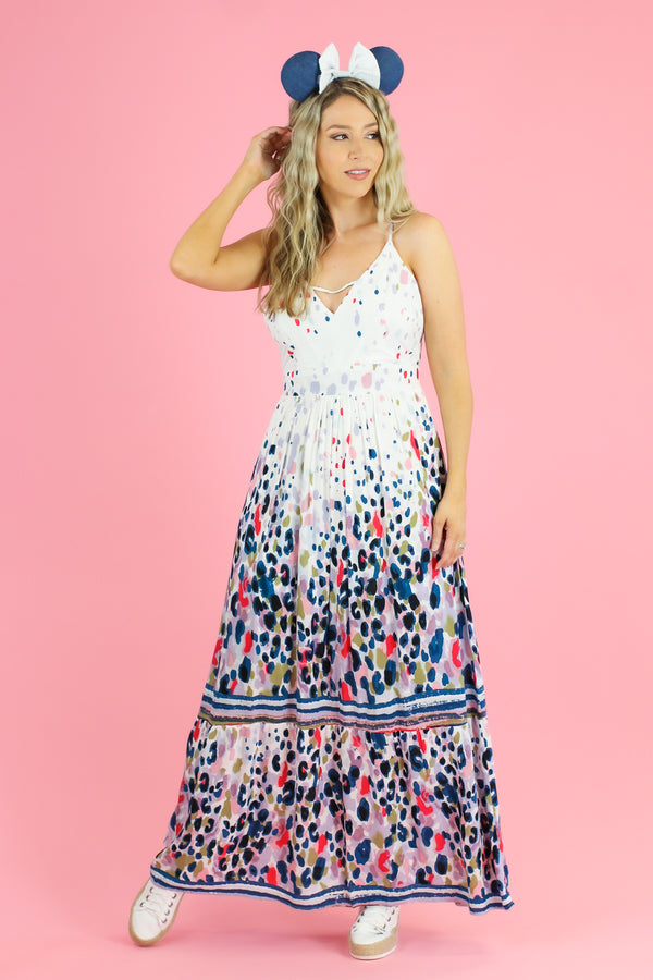 Sharna Abstract Print Maxi Dress - FINAL SALE - Madison and Mallory
