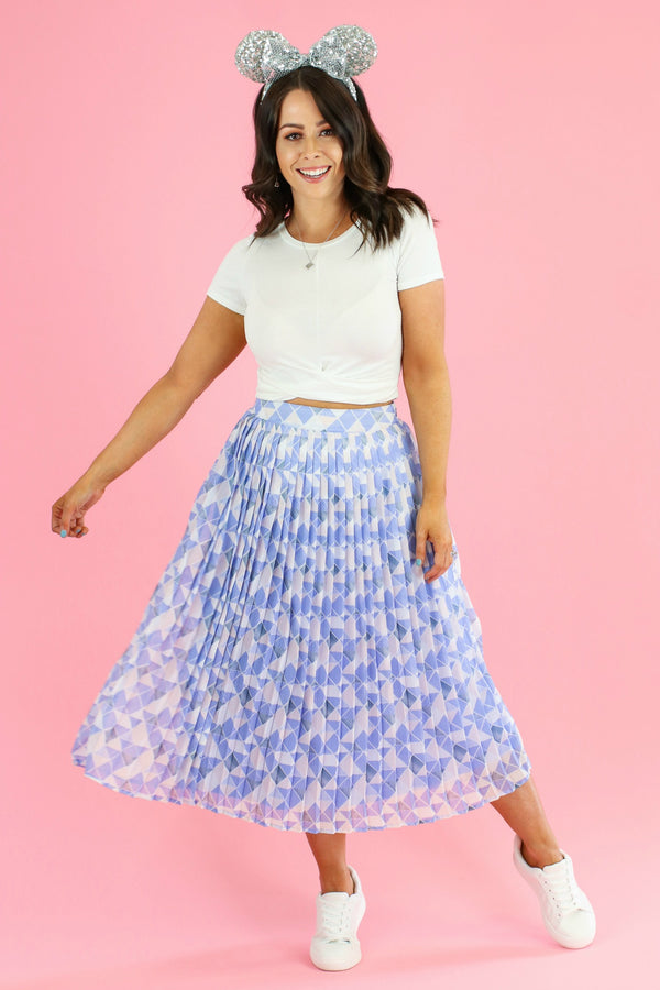 Meet Me at the Wall Pleated Skirt - Madison and Mallory
