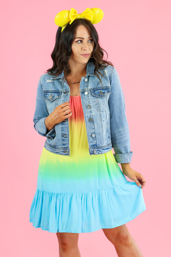 Perfect Timing Rainbow Tiered Dress - FINAL SALE - Madison and Mallory