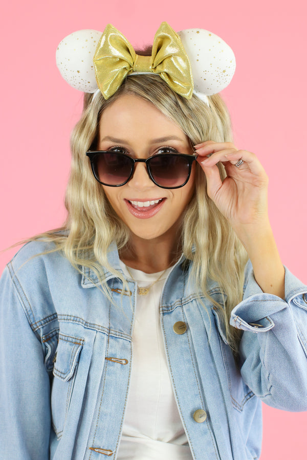 Black/Gunmetal Keep it Shady Square Sunglasses - Madison and Mallory