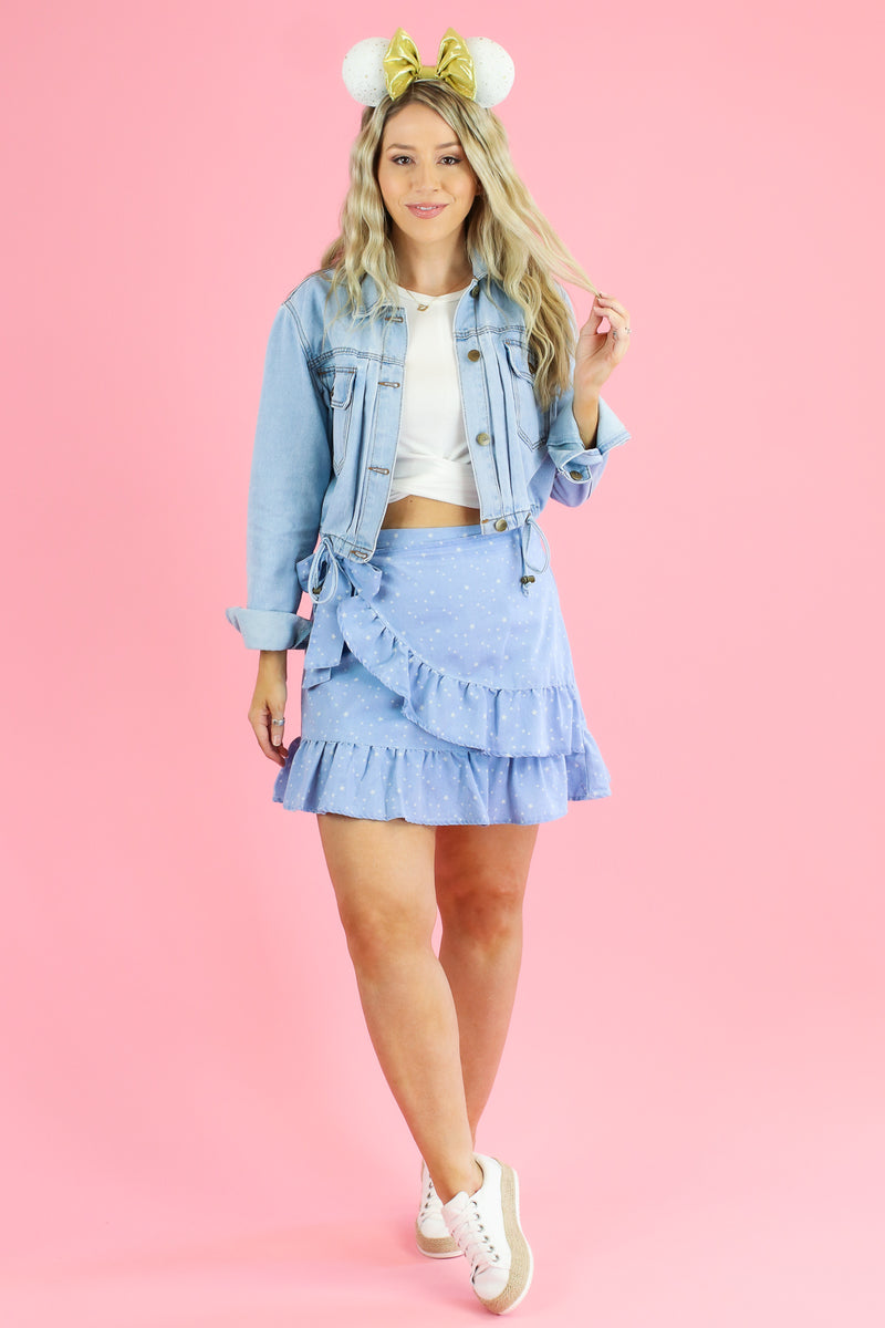 Guiding Star Print Ruffle Wrap Skirt - FINAL SALE - Madison and Mallory