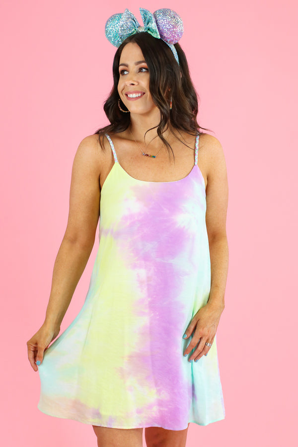 S / Multi Easy Going Tie Dye Dress - FINAL SALE - Madison and Mallory