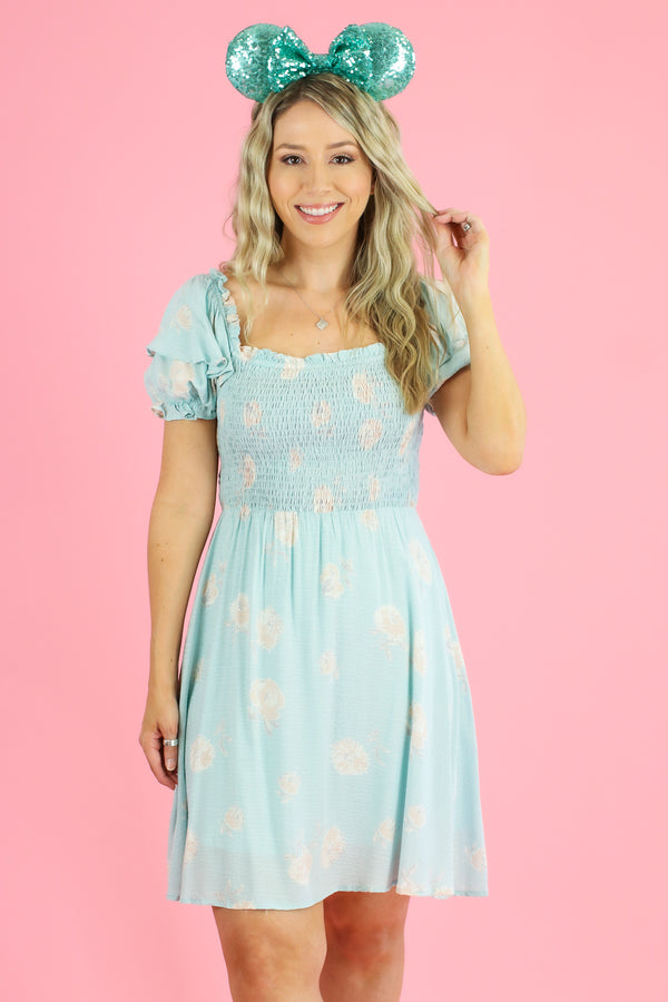 S / Mint Here Flora Good Time Smocked Dress - Madison and Mallory
