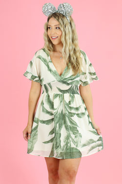 S / Green Cruise on By Tropical Print Dress - Madison and Mallory