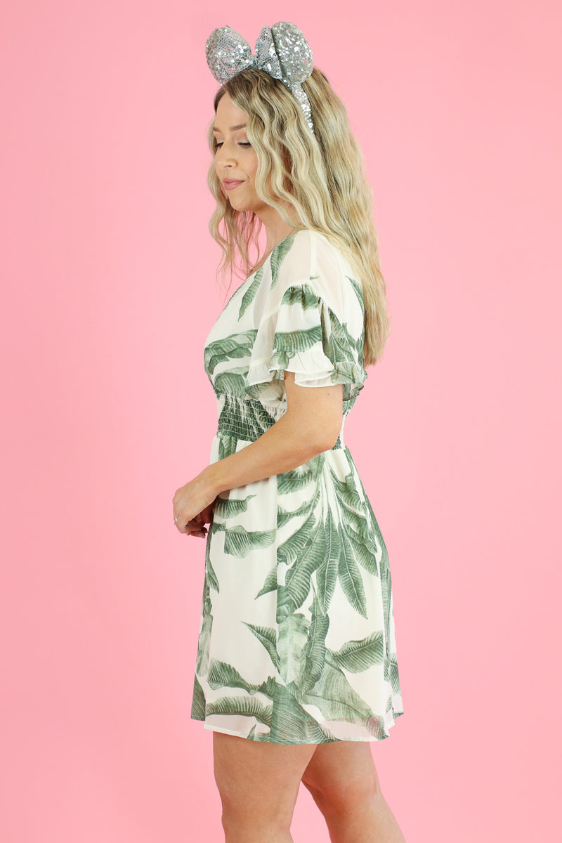 Cruise on By Tropical Print Dress - Madison and Mallory
