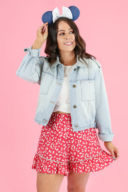 S / Light Dinah Light Wash Denim Jacket - Madison and Mallory