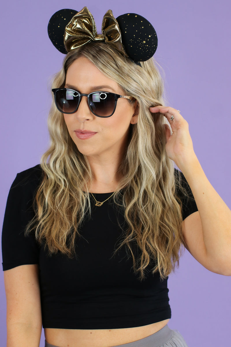 Black/Gold Keep it Shady Square Sunglasses - Madison and Mallory