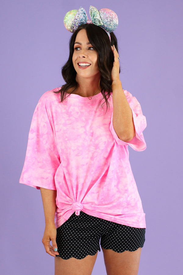Iridessa Neon Tie Dye Oversized Top - Madison and Mallory
