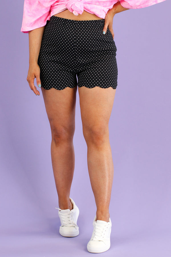 S / Black Ever After Polka Dot Shorts - Madison and Mallory