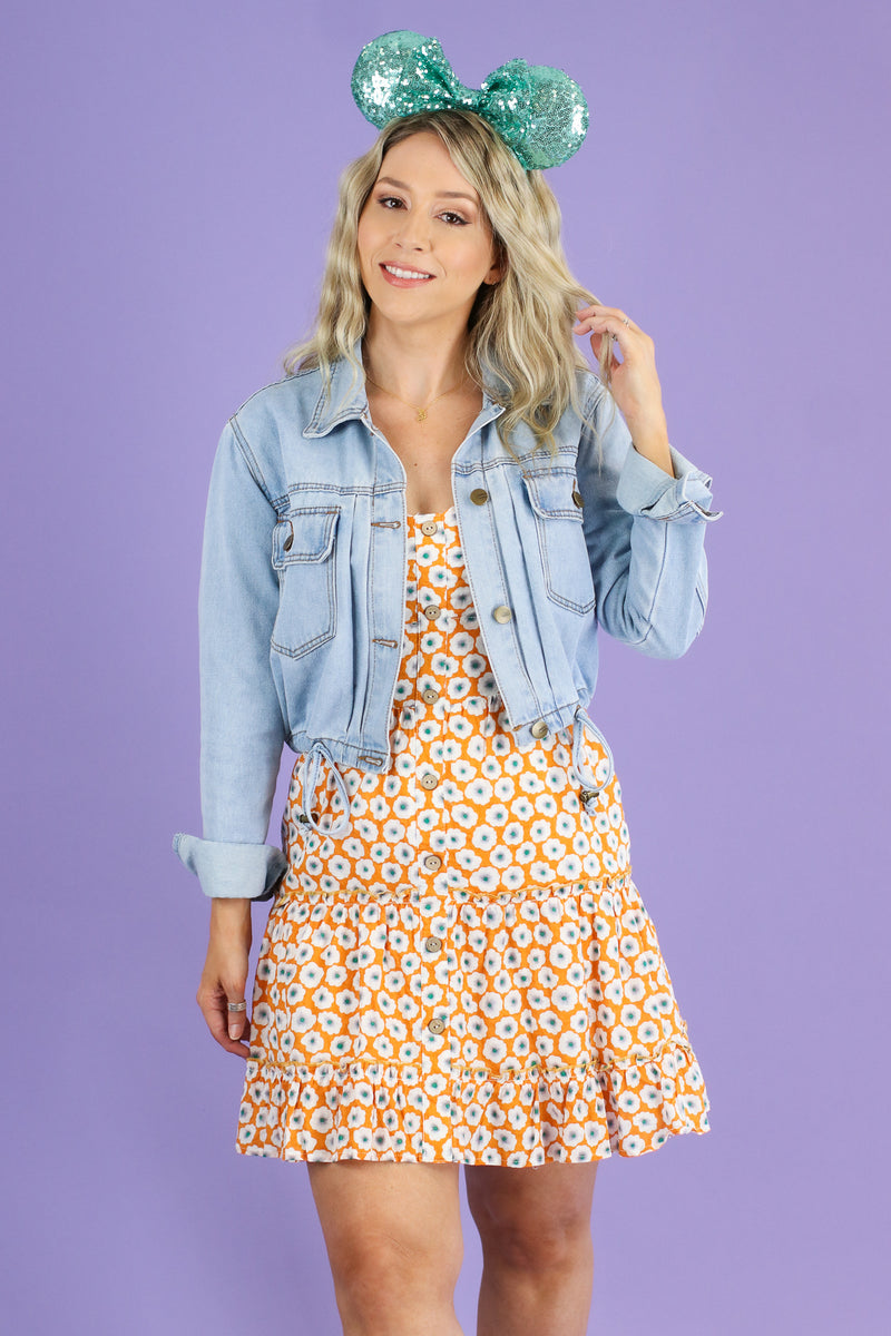 Floral Fever Sweetheart Button Dress - Madison and Mallory