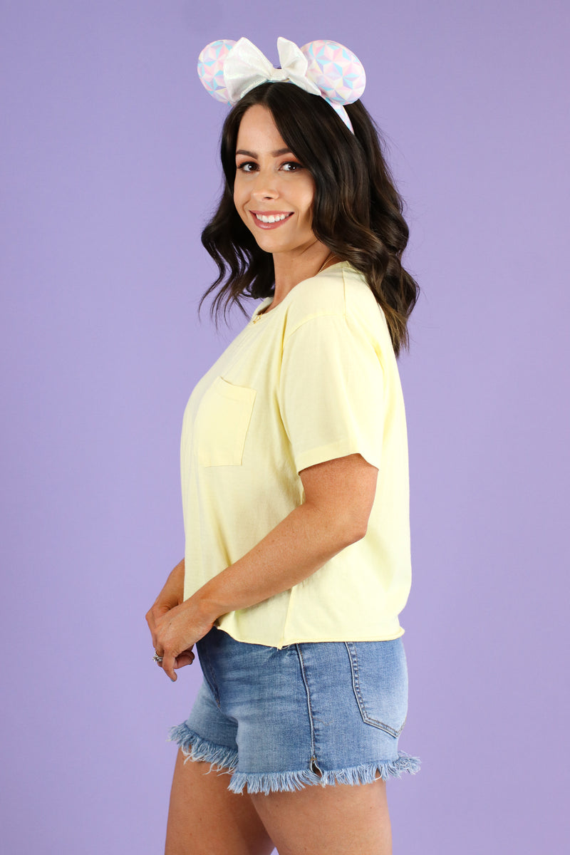 Every Step Cropped Pocket Tee - Madison and Mallory