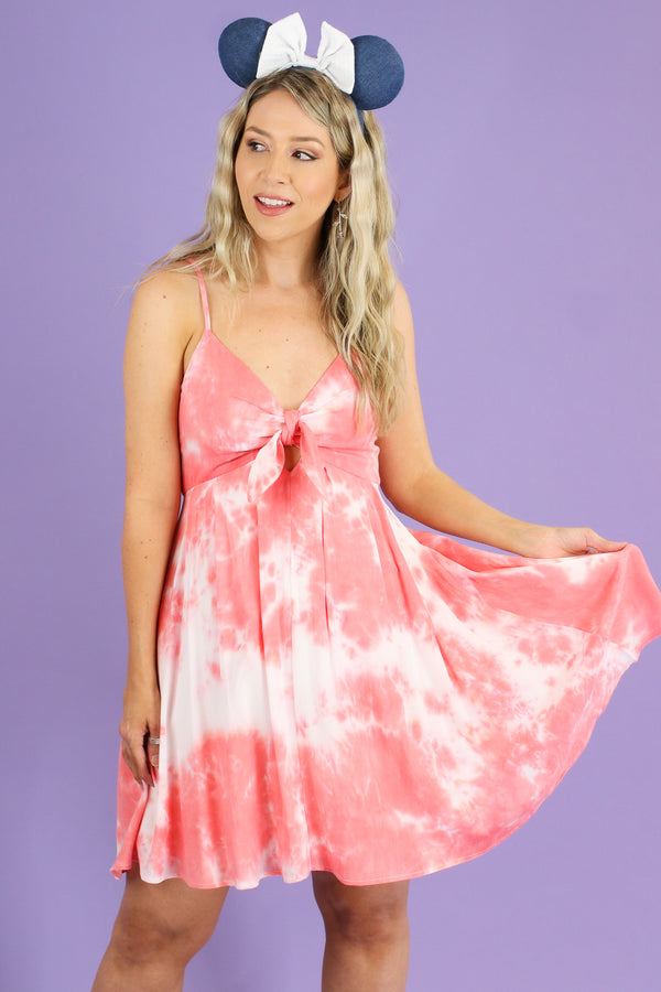 S / Pink Never Going Home Tie Dye Dress - FINAL SALE - Madison and Mallory