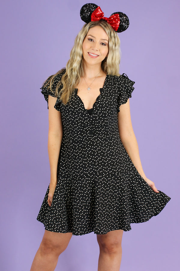 S / Black Love Stories Heart Dress - FINAL SALE - Madison and Mallory
