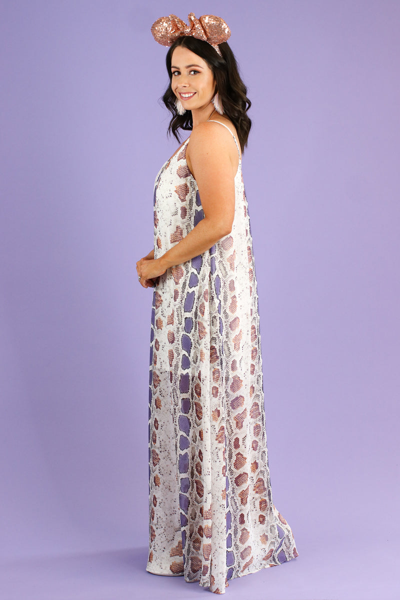 Strike Fast Multi Color Maxi Dress | CURVE - Madison and Mallory