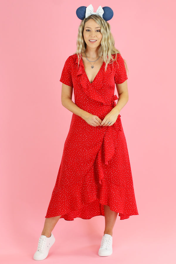 Tied to Delight Polka Dot Wrap Dress - FINAL SALE - Madison and Mallory
