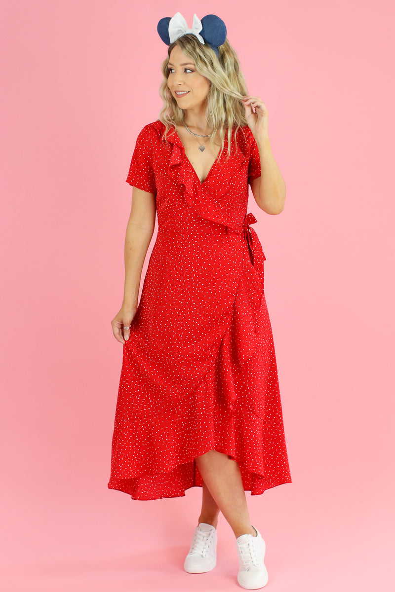 Tied to Delight Polka Dot Wrap Dress - Madison and Mallory