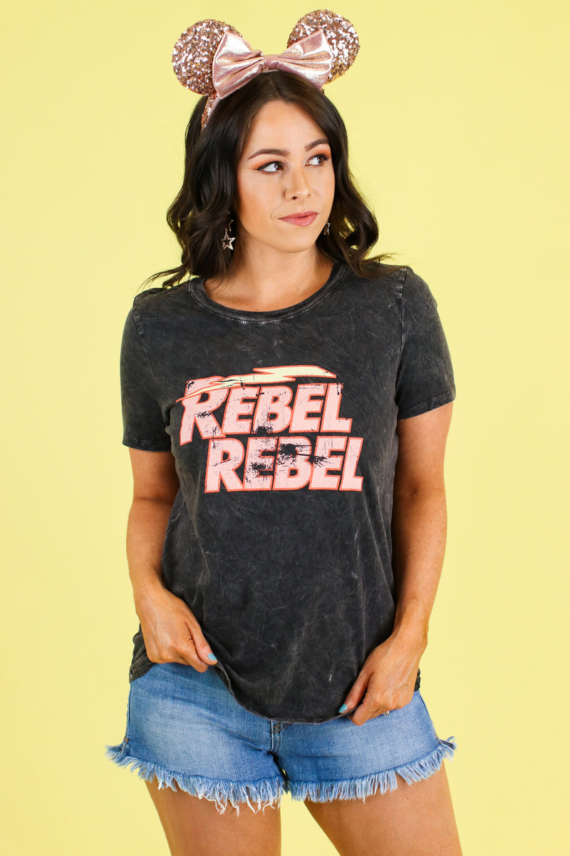 Rebel Graphic Top - FINAL SALE - Madison and Mallory
