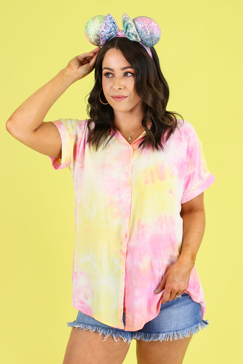 Evening Sun Tie Dye Top - Madison and Mallory