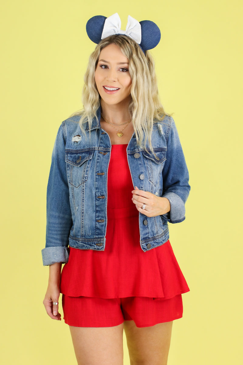 Around the Block Denim Jacket | CURVE - Madison and Mallory