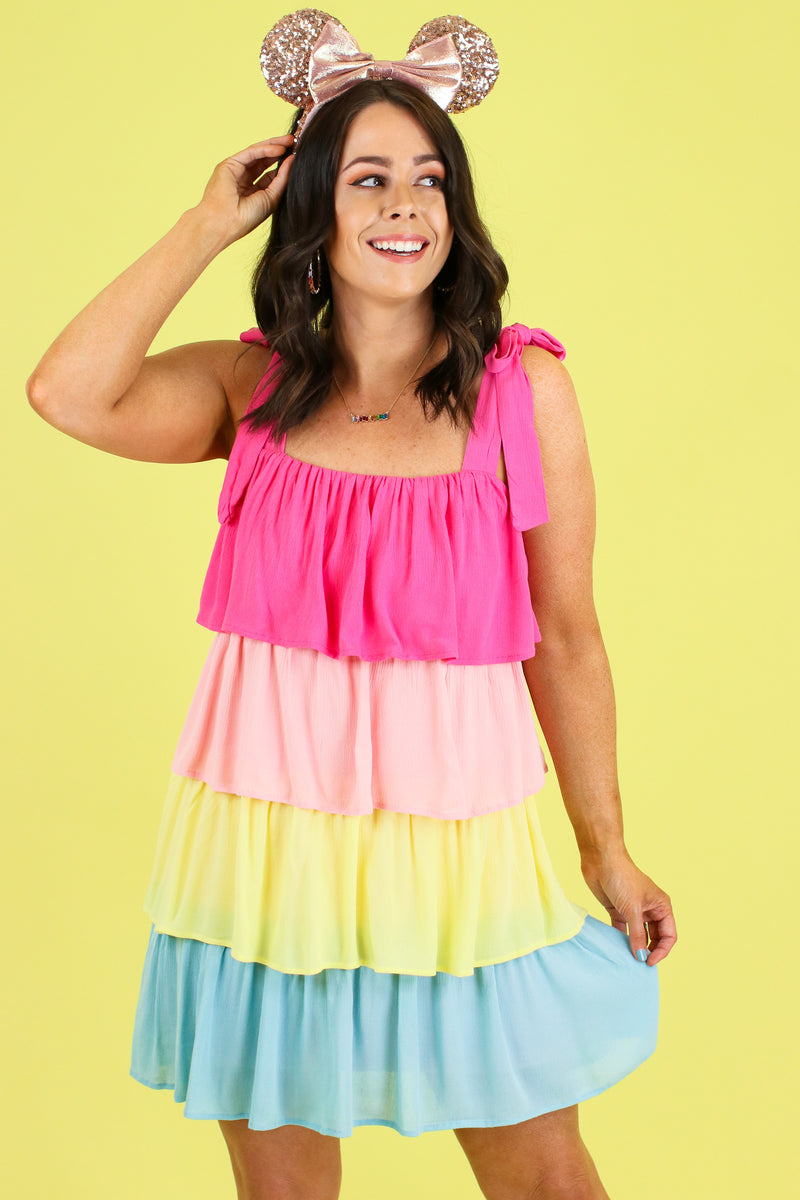 Seize the Daydream Rainbow Dress - Madison and Mallory