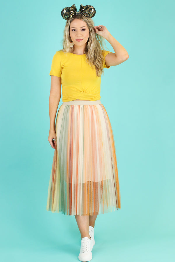Feeling Fine Multi Striped Tulle Skirt - FINAL SALE - Madison and Mallory
