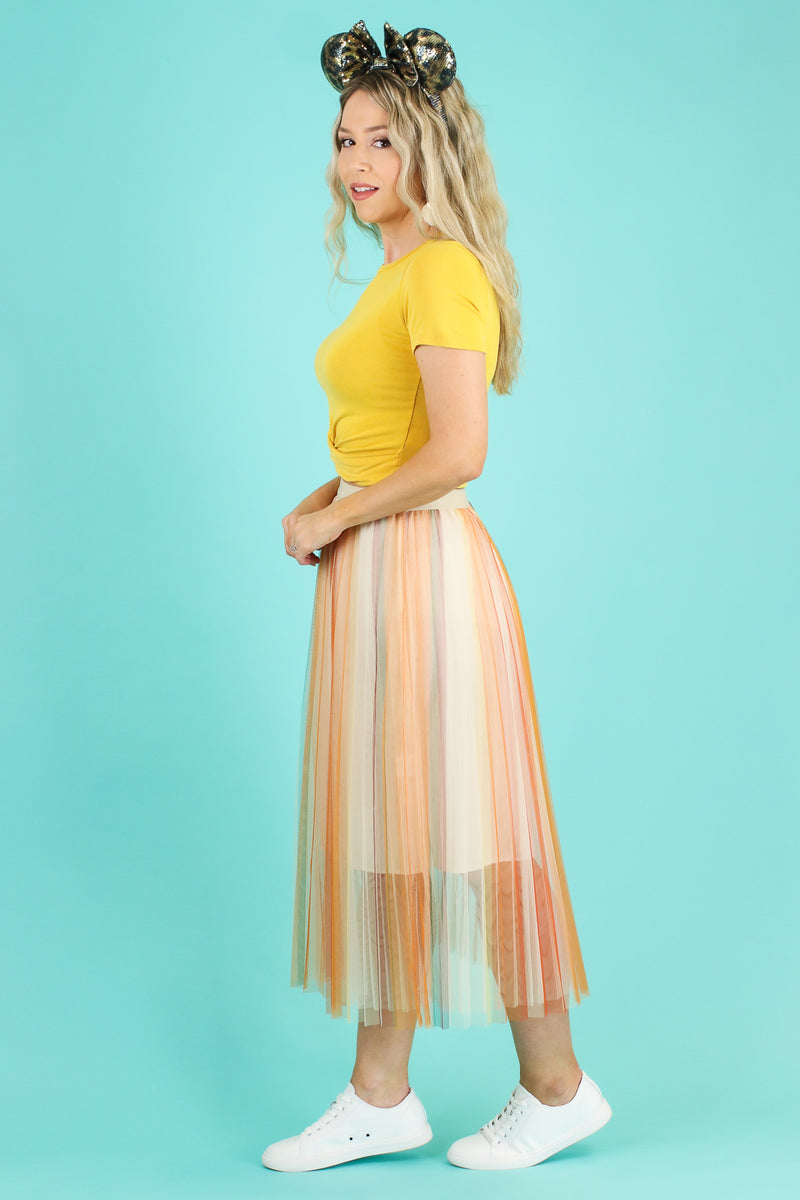 Feeling Fine Multi Striped Tulle Skirt - Madison and Mallory