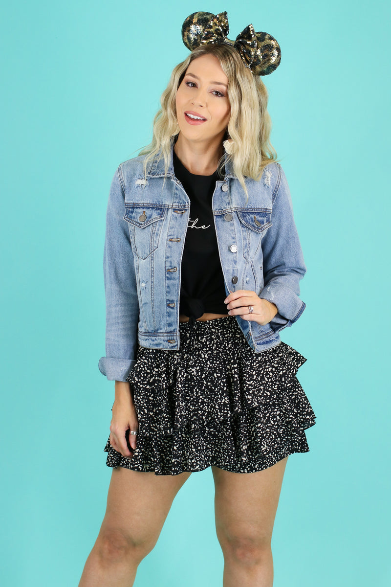 Drizella Floral Ruffle Skort - Madison and Mallory